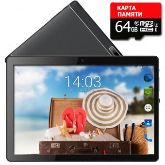 Планшет - телефон Hoozo X1001 Lite Full HD 32Gb LTE Jet Black + Карта памяти 64GB